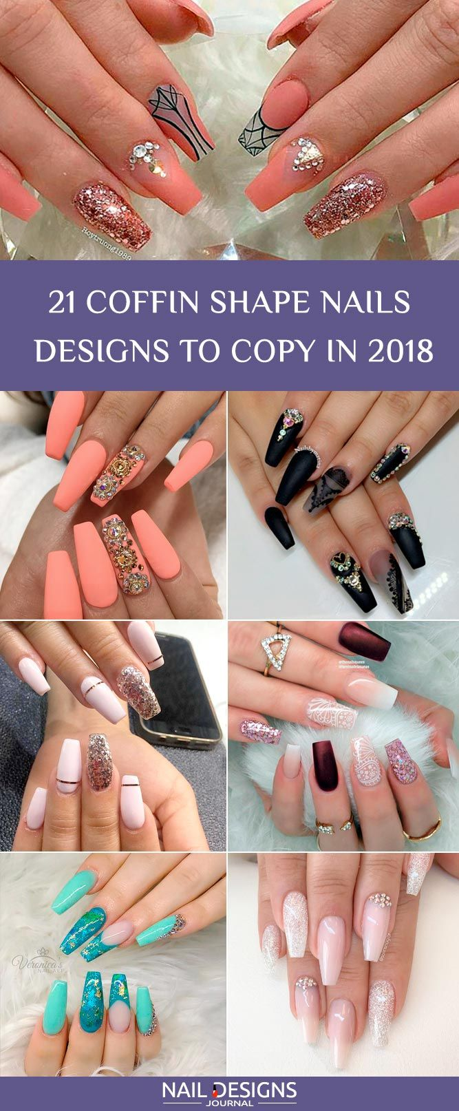 25 Fantastic Designs For Coffin Nails You Must Try Tipstoes