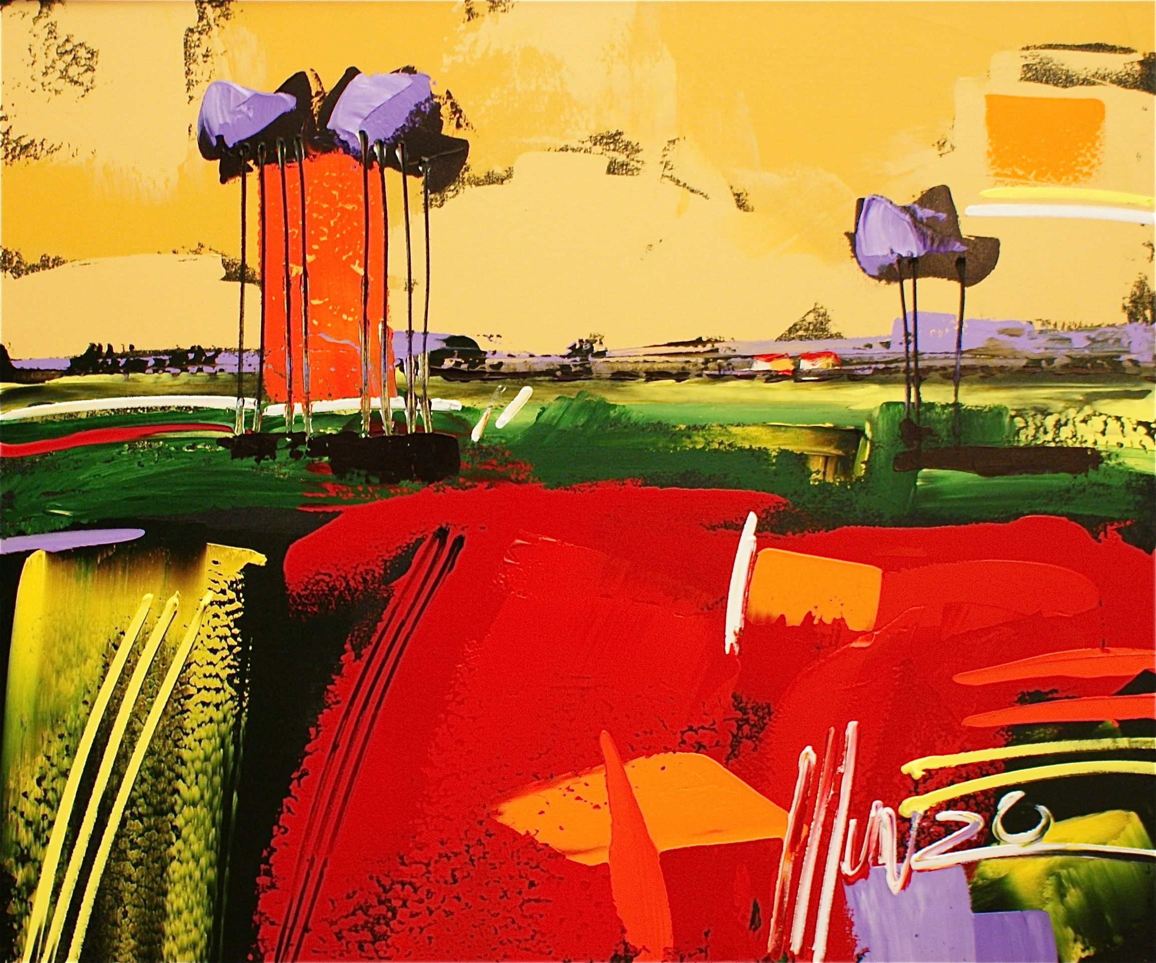 Beautiful landscape art by south african artist munro