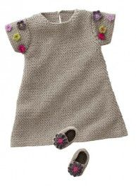 modele gratuit robe tricot fillette