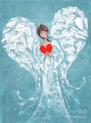Heard on High Angel - blue heart by Annie Troe