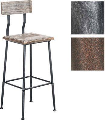 Sitzhöhe Barhocker industrial design barhocker mit lehne 4 beine materialmix