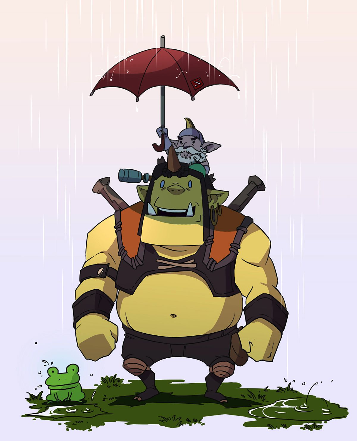 dota2 in the rain by biggreenpepper deviantart com on deviantart