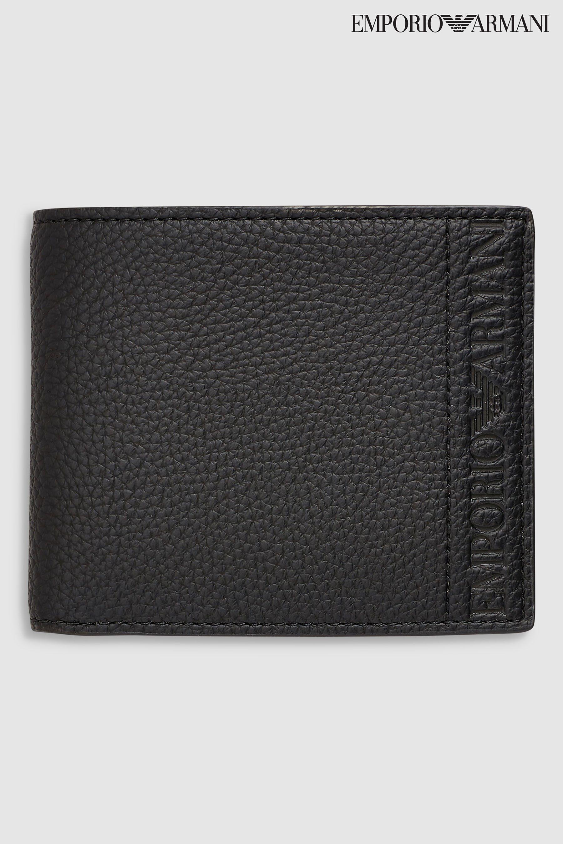 850aca0cfc Mens Emporio Armani Logo Bi Fold Wallet - Black