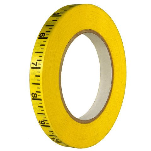 Measuring Tape Tape Is A Yellow Paper Tape Printed With Black Markings Every 1 8 Of An Inch Perforated At The End Of Each Foot A Paper Tape Tape Measure Tape