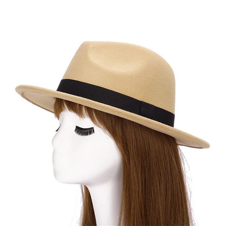 02bab55fb01 Autumn Wide Brim Vintage Wool Felt Hats for Women  HatsForWomenVintage   HatsForWomenOutfits