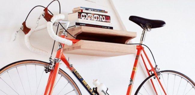 fahrradhalterung wand selber bauen ideen regal holz stauraum fahrradhalter schiene