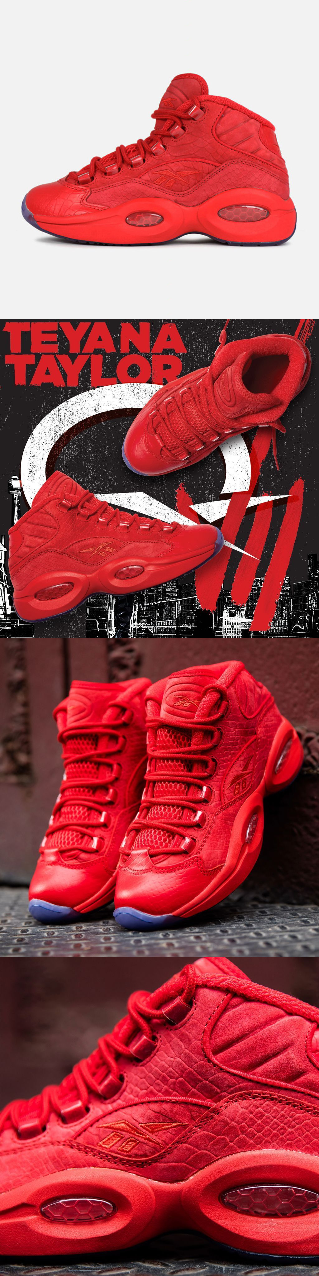 b4b783520f42bd Basketball  Teyana Taylor X Reebok Question Mid Bd4487 Women Primal Red Ice  Ladies Night -