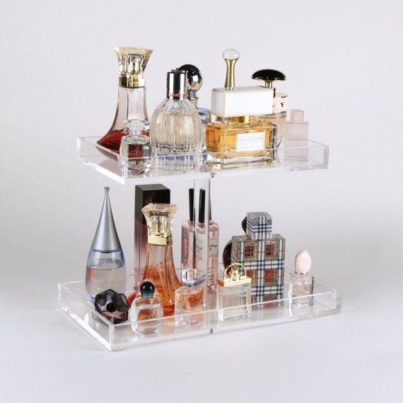 2 Tier Perfume Storage Tray Acrylic Makeup Von TheBeautyCubeShop