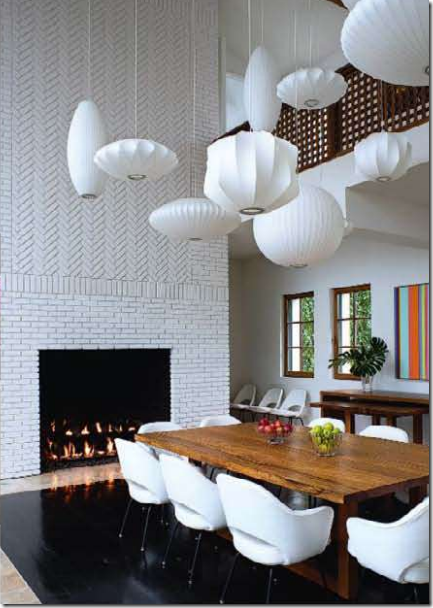 george nelson bubble pendants @no way Saunders. Love it, except the tile  around