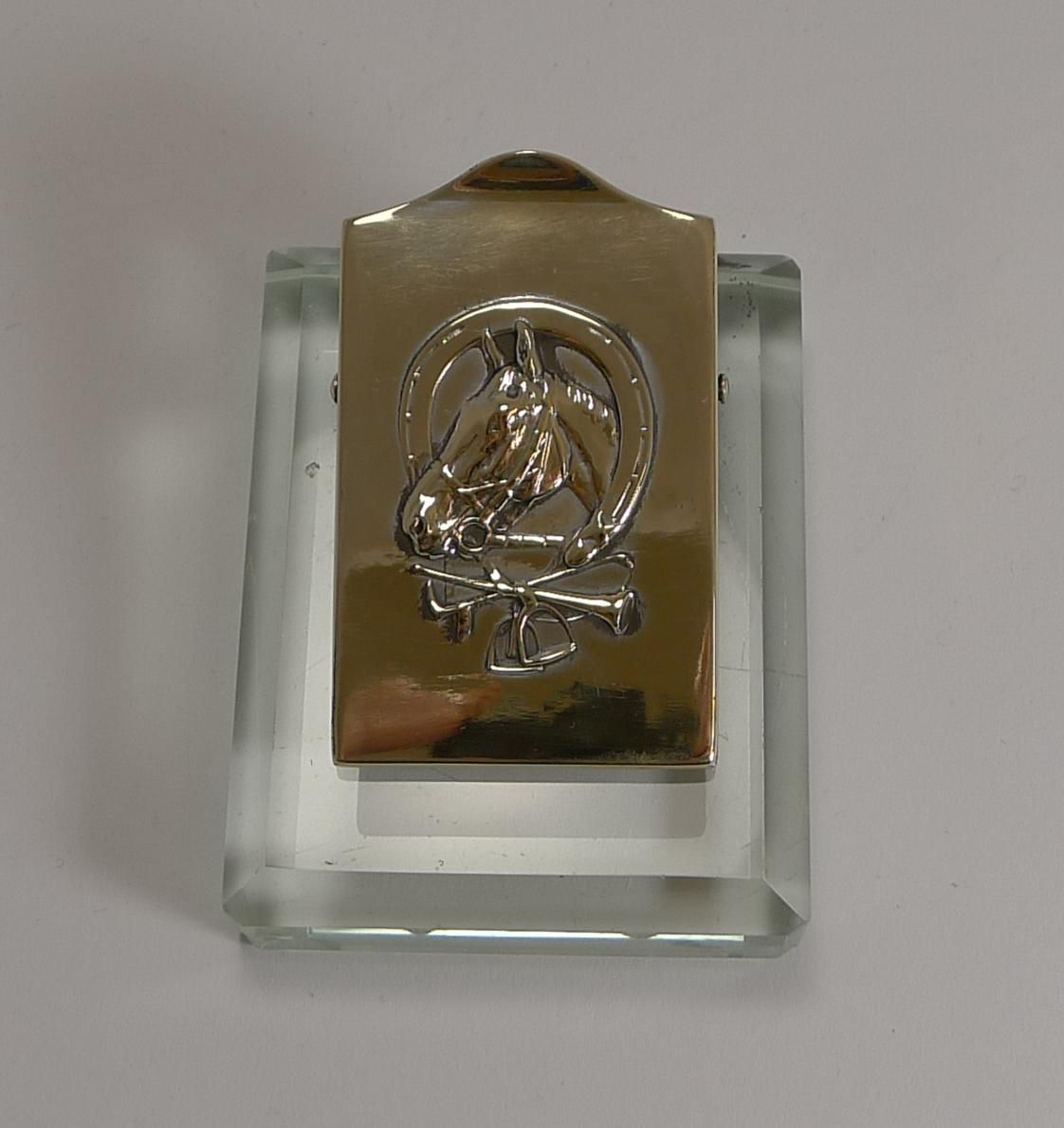 Stupendous Equestrian Brass And Glass Desk Letter Clip C 1910 In 2019 Beutiful Home Inspiration Xortanetmahrainfo