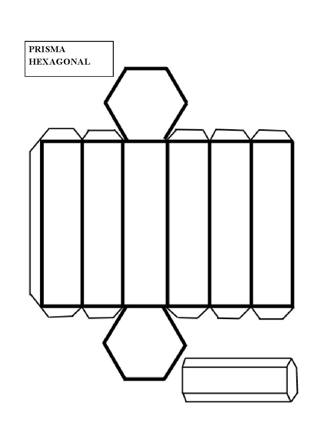 construir un prisma hexagonal คณ ตศาสตร pinterest math