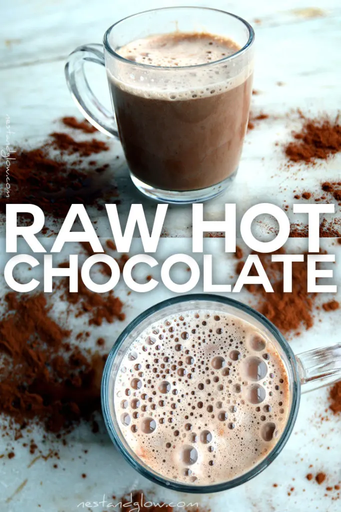 Raw Vegan Hot Chocolate #hotchocolaterecipe