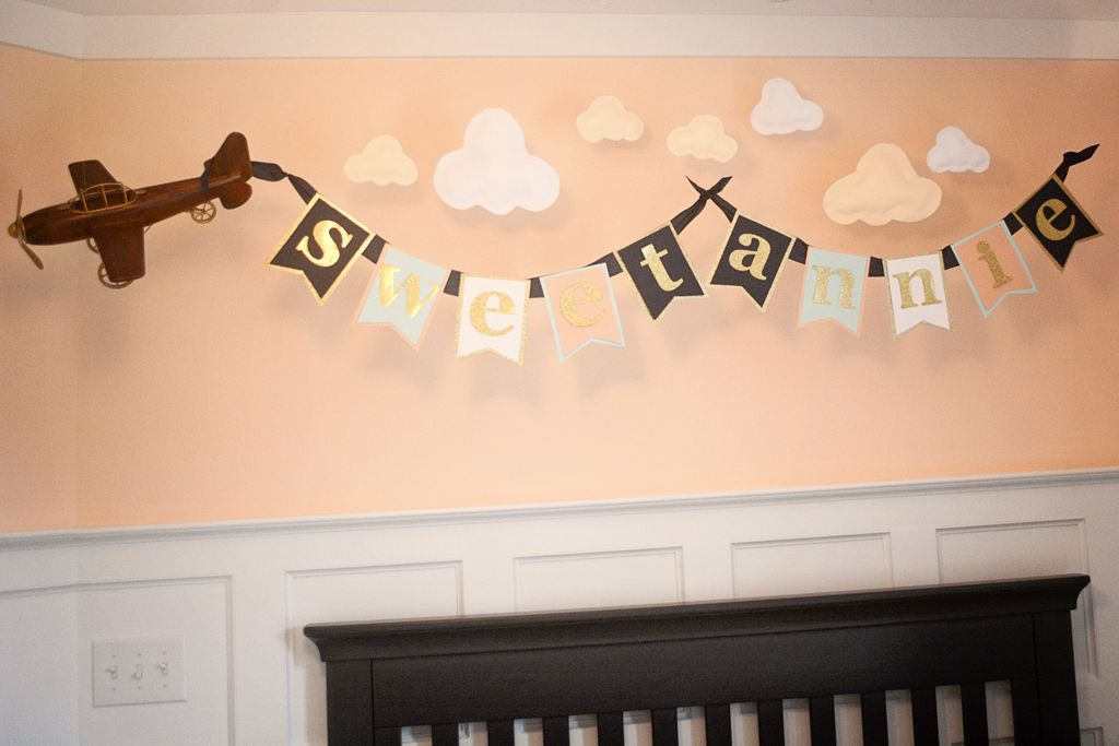 Nursery Feature | Baby name decorations, Baby girl nursery ...
