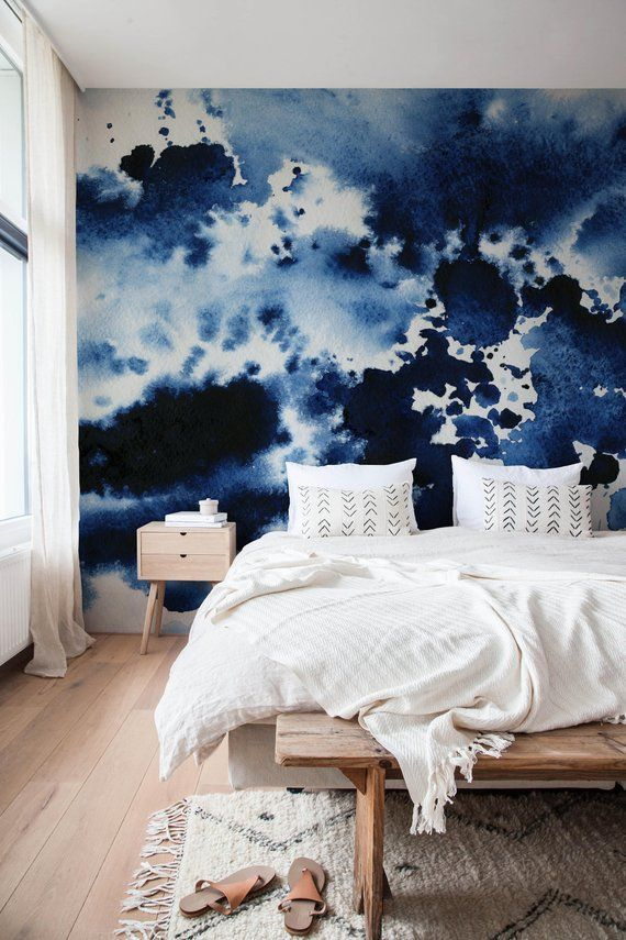 Watercolor Wallpaper Removable Wallpaper Watercolor Print Removable Wallpaper Temporary Wallpaper Watercolor Mural Large Wall Paper – A223