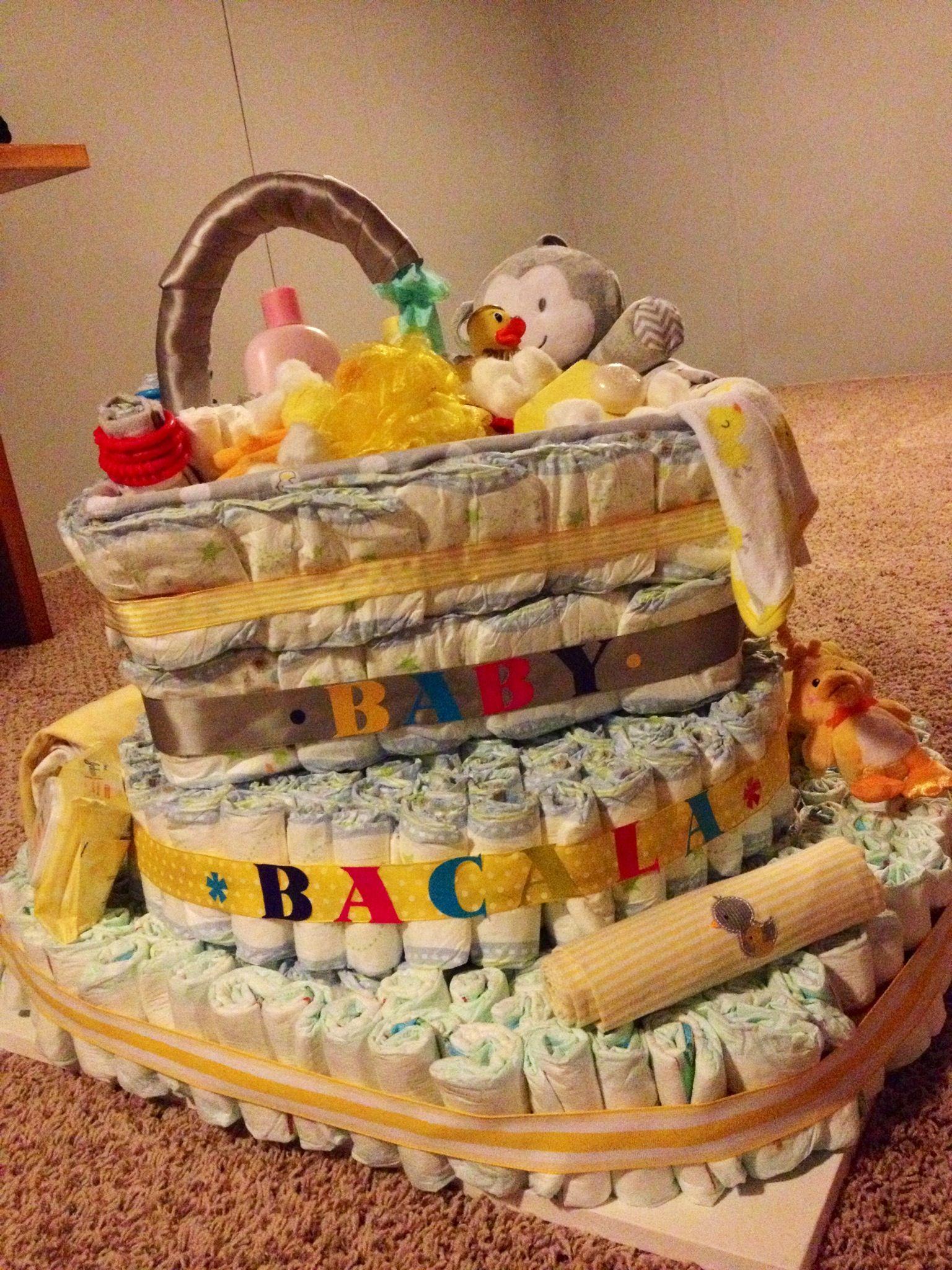 Baby tub diaper cake! | Nappy Cakes | Pinterest | Baby tub, Diapers ...