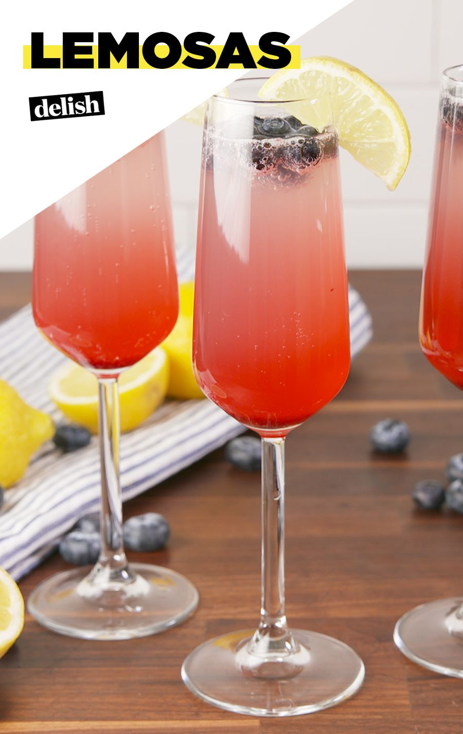 Lemon Blueberry Mimosas Are The Official Drink Of Spring Recipe Brunch Drinks Lemon Drink Recipes Drinks