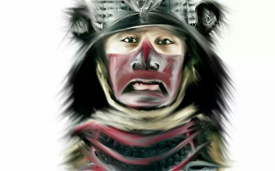 A Samurai sketched with digital tools... I enjoyed one of my favorites.