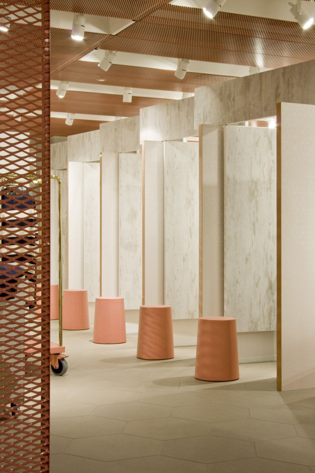Fitting Room Designs For Retail: H&M - Patricia Urquiola Fitting Rooms