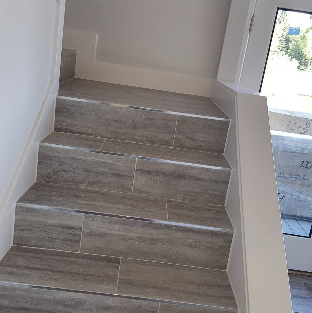Top 60 Best Stair Trim Ideas: Look At Those Schluter Edged , Stone Tile Stairs... The