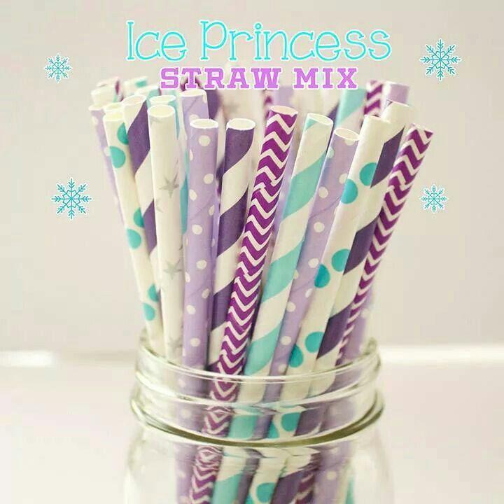 Ice Princess Frozen straw mix