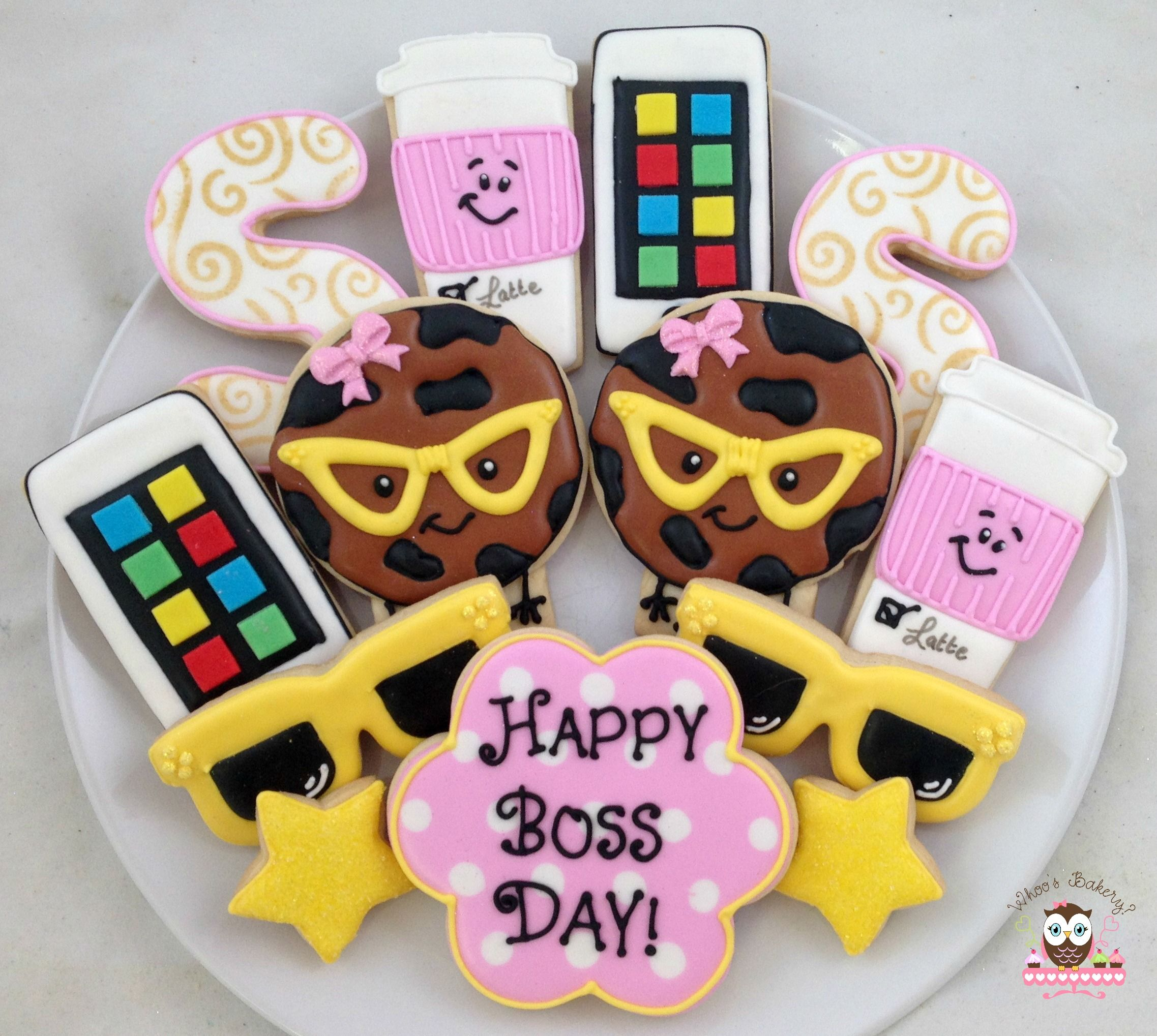Boss Day Cookies Boss Day Gift Sunshine Cookies Iced Sugar