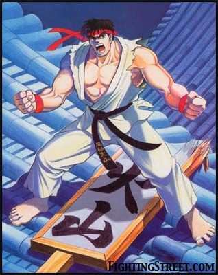 Ryu Street Fighter 2 Full Body And Stage Art Street Fighter