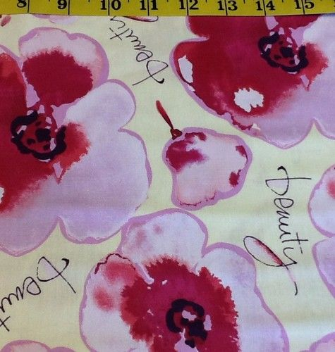 Kathy Davis Beauty Fabric Pink Flowers