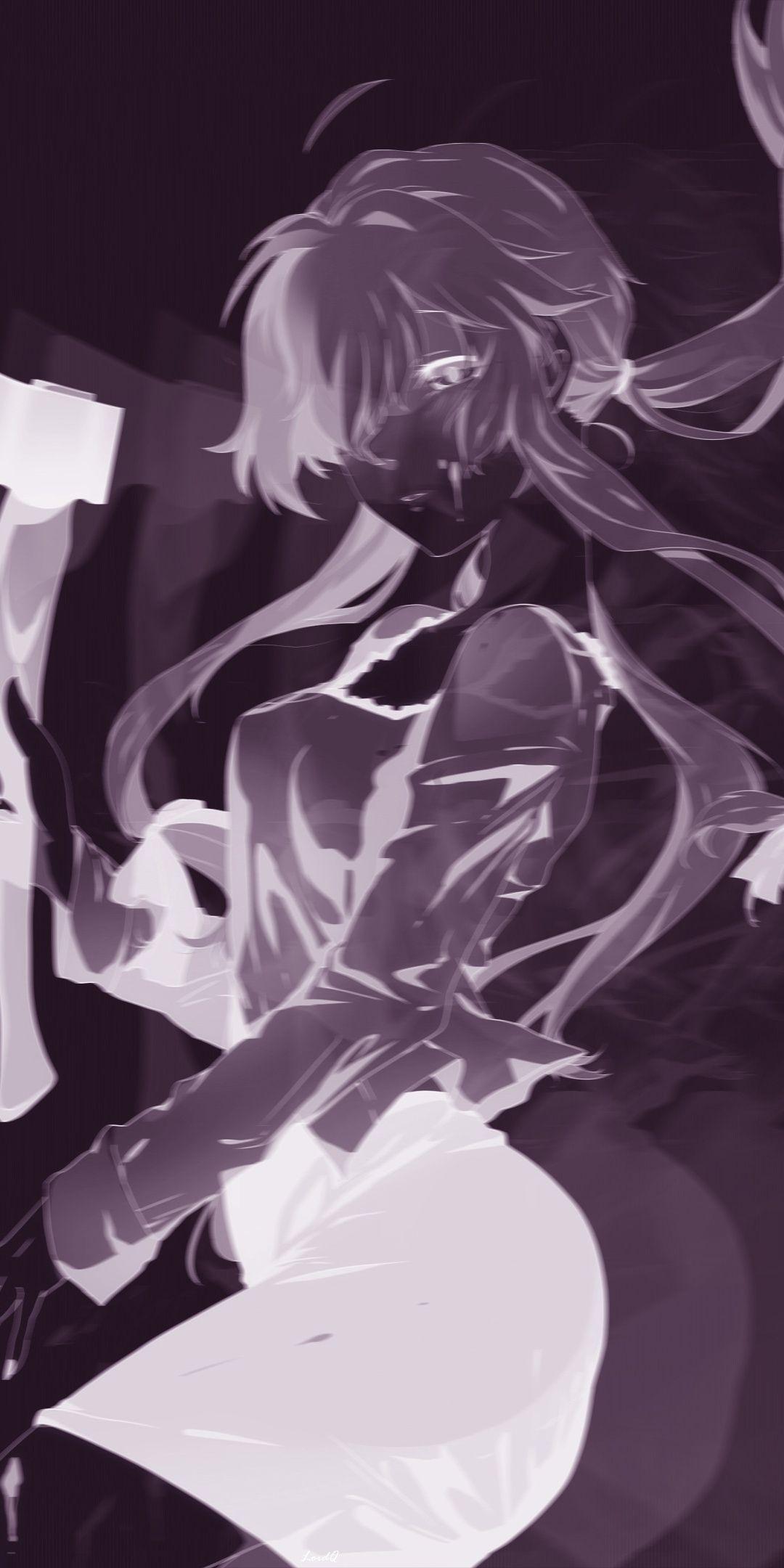 Anime Girl Mirai Nikki Minimal 1080x2160 Wallpaper Anime