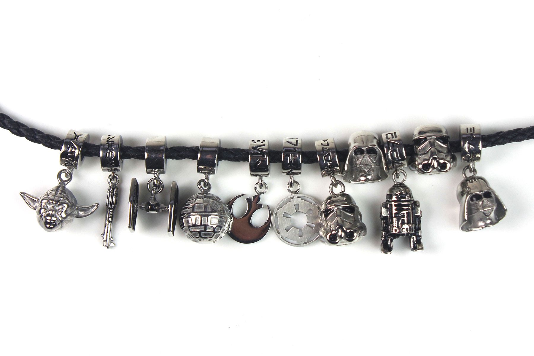 f912b8bb800cb Thinkgeek - Star Wars bead charms by Body Vibe | Disney in 2019 ...