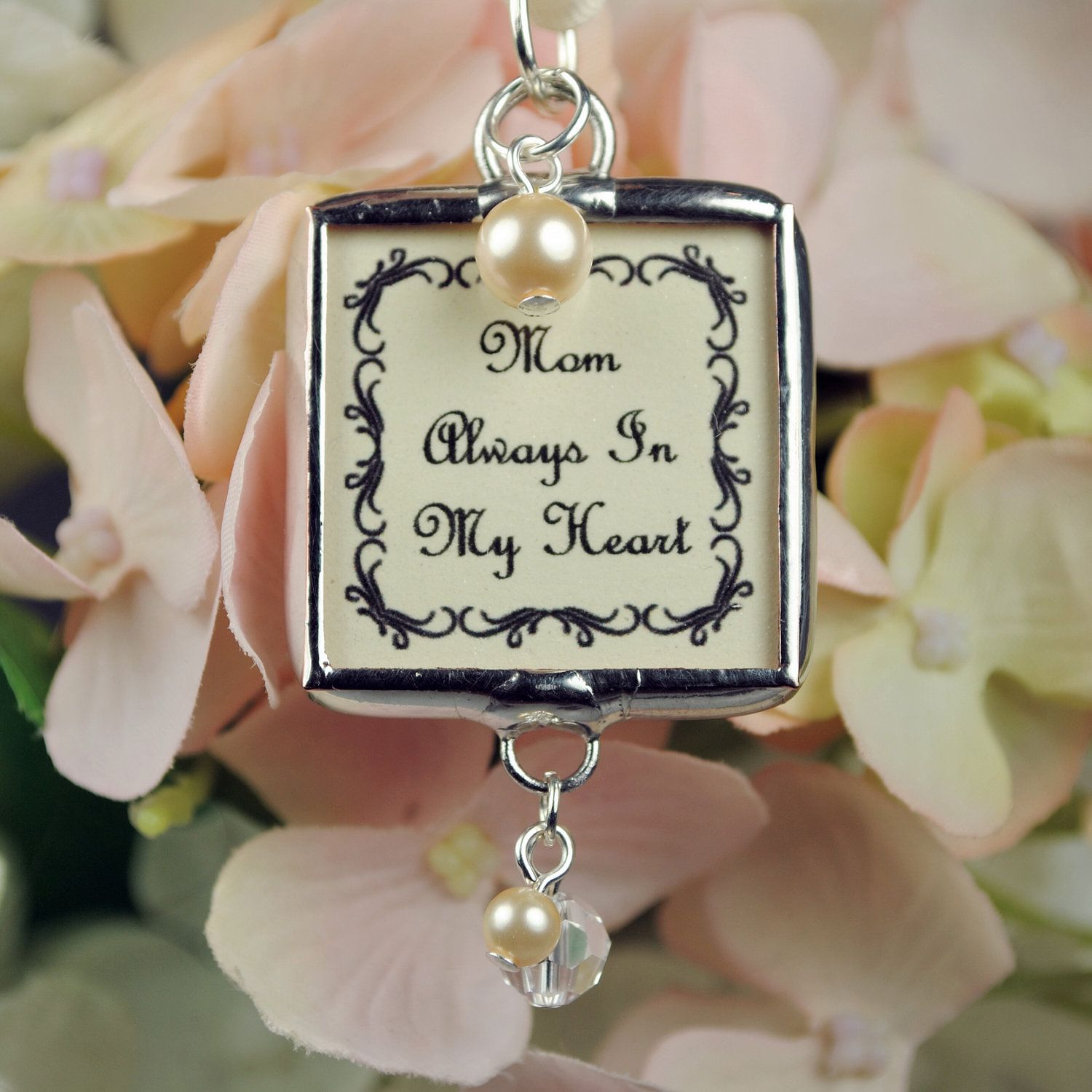 Wedding Bouquet Charm Soldered Bridal By Glassrealm