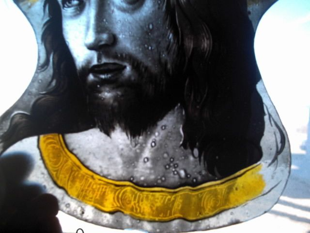 JESUS kiln fired! face glass painting design