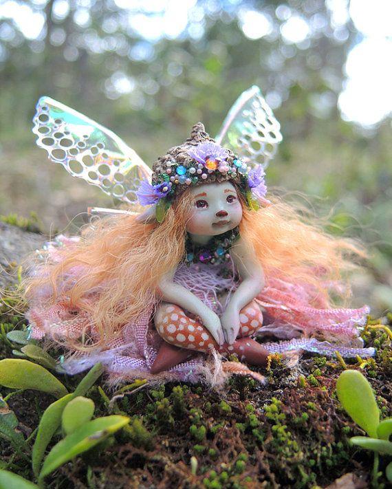 Bella, A Tiny Chubbly Bub Fairy by Celia Anne Harris OOAK