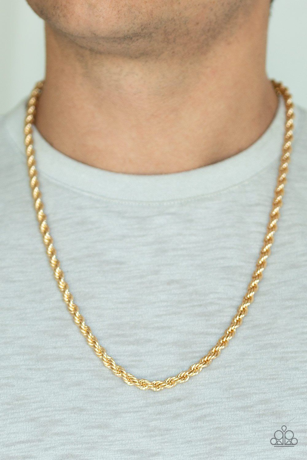 Double Dribble Gold Rope Chain Men S Necklace Danielle S Bling Boutique Mens Chain Necklace Mens Gold Chain Necklace Gold Chains For Men