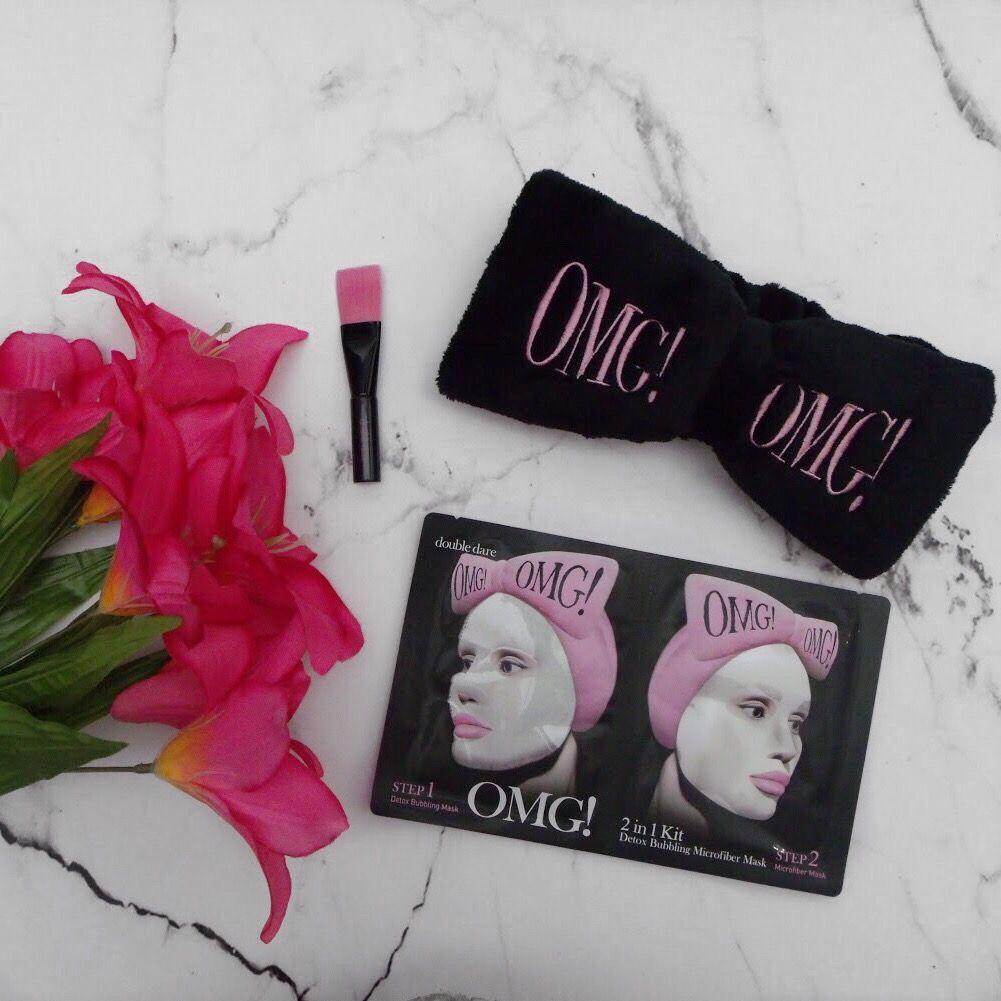 Double Dare OMG 2in1 Detox Bubbling Microfiber Mask Kit
