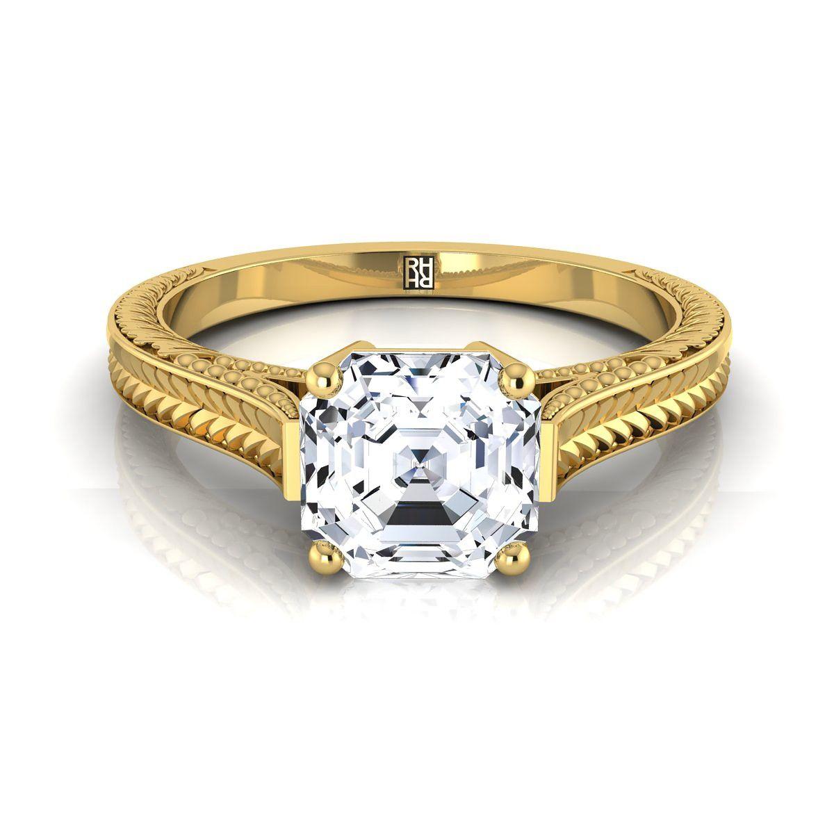 Pin On Asscher Cut Engagement Rings