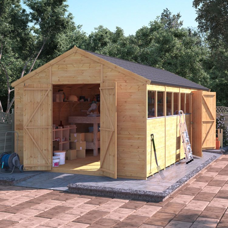 Side and front entrance Garden buildings direct