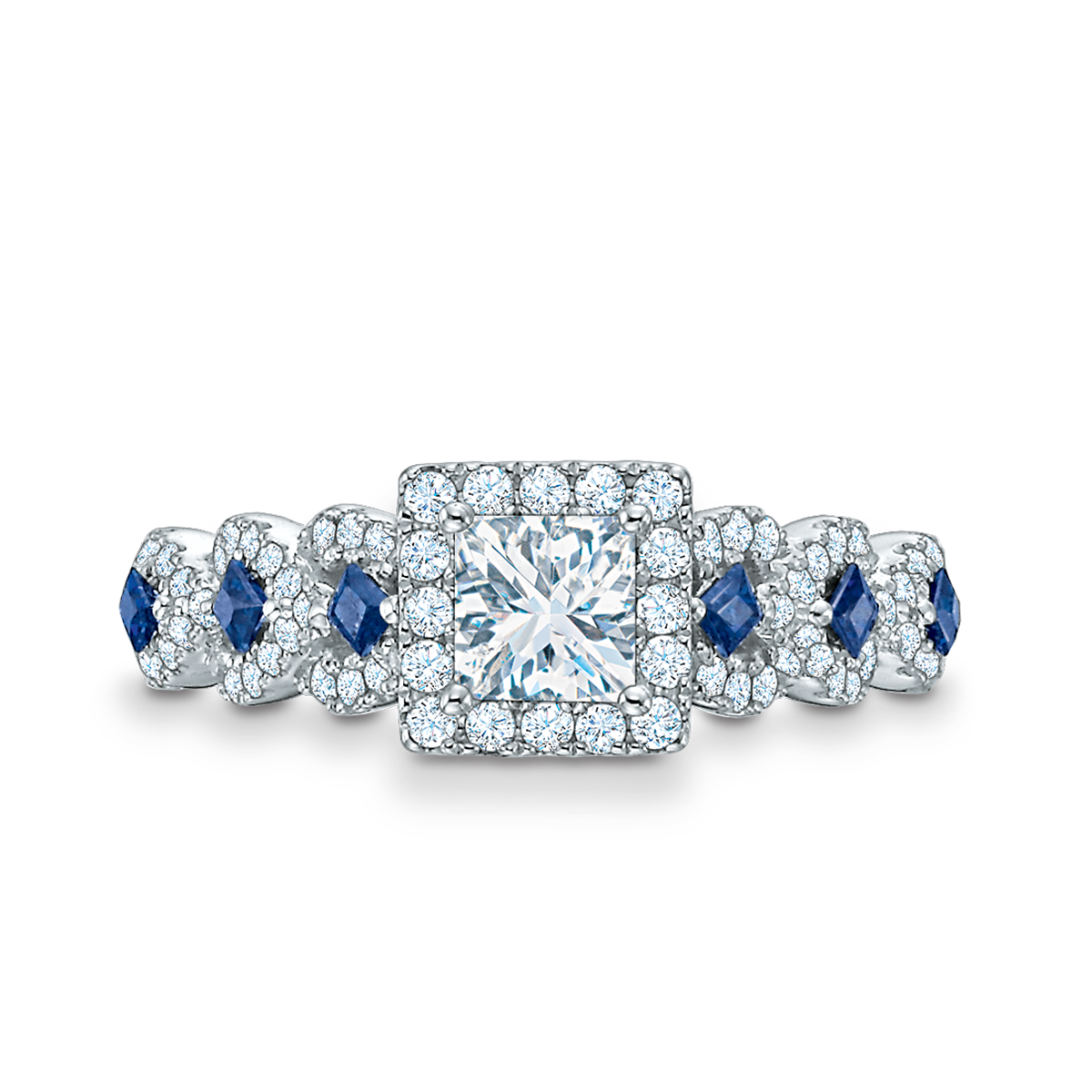 Vera Wang Love Collection 1 Ct T W Diamond And Blue Sapphire