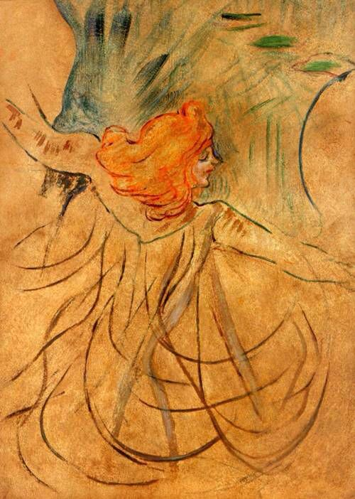 Loie Fuller painted by Toulouse-Lautrec.