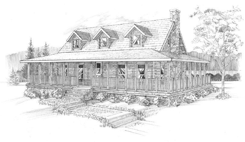 Ward Cedar Log Homes | Log Home Floor Plans - Ward Cedar Log Homes ...