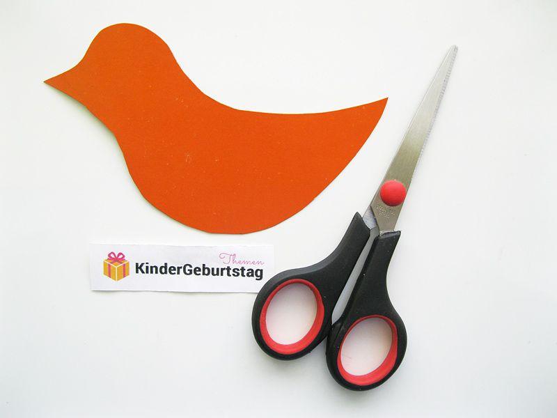 vogel basteln aus papier einfache anleitung und vorlage