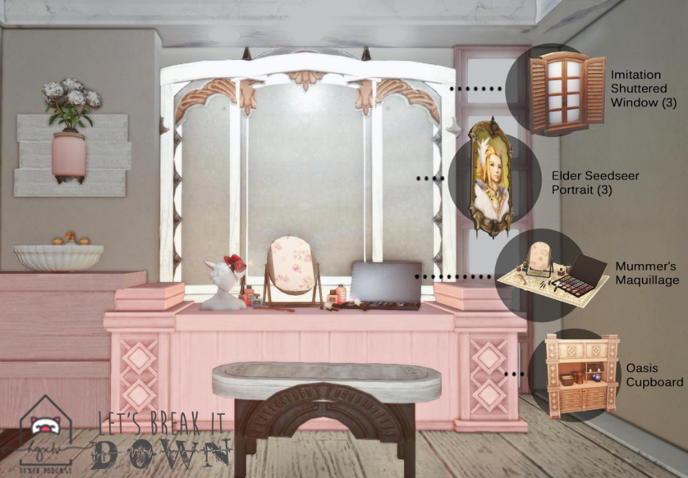 Hgxiv The Ffxiv Housing Podcast On Twitter Fantasy House Trifold Mirror Home Decor