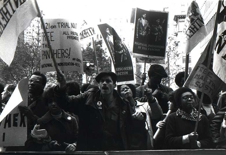 Demonstrators Outside The Courthouse For The Panther 21 Trial New York City 1969 Black Panther Party Black Panther Party Members Black Panther Civil Rights