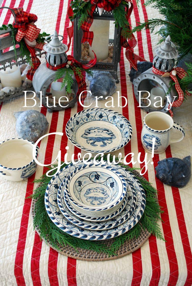 A Coastal Christmas And Giveaway Christmas Table