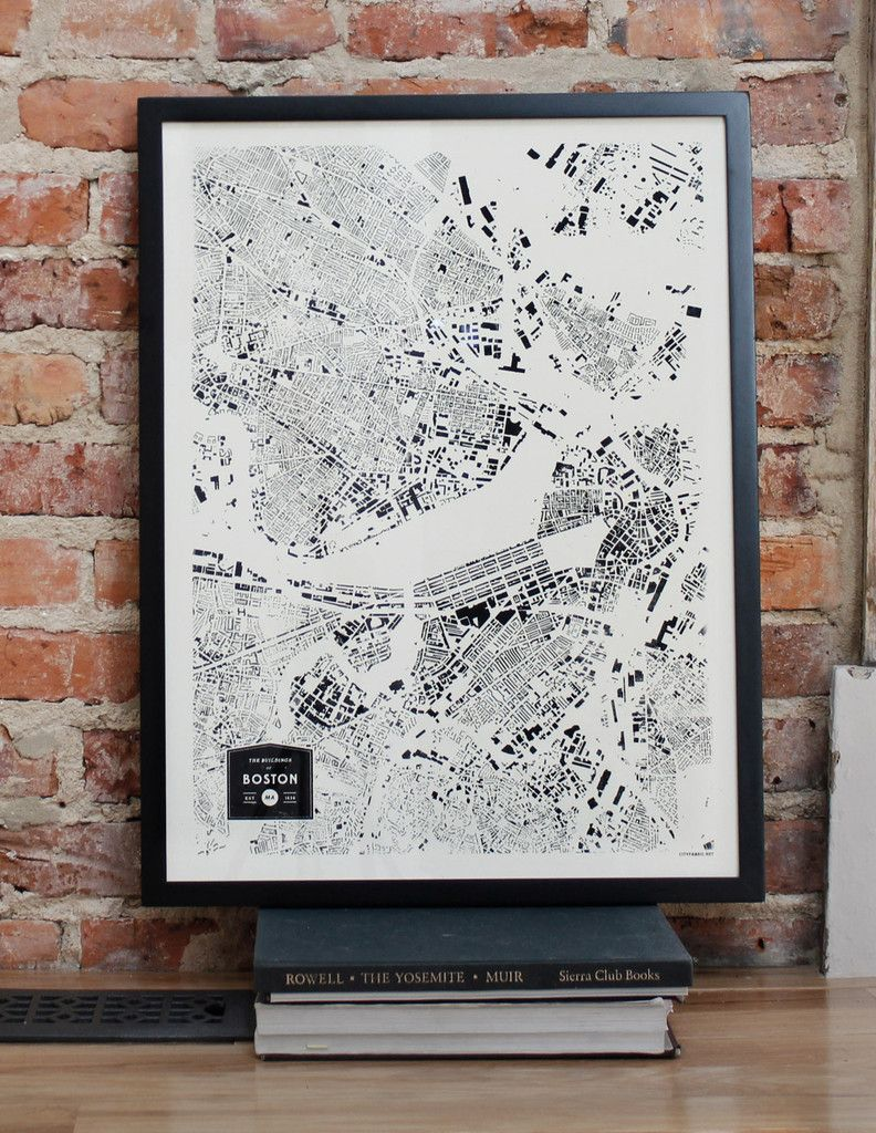 Boston City Print | Art & Images. | Pinterest | City print, Modern ...
