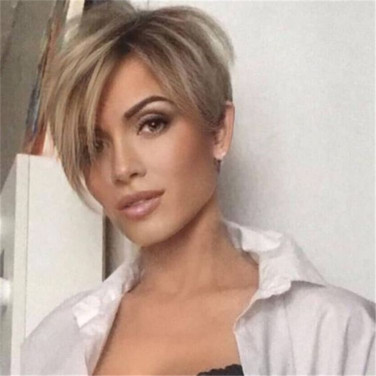 Cool Platinum Pixie Haircut for Thin Hair Ideas
