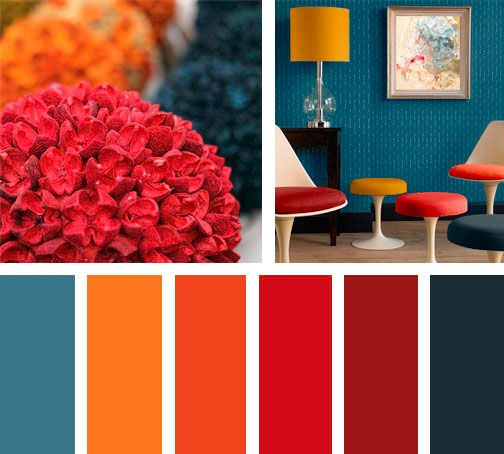 Lemonbe paleta color rojo naranja deco pinterest - Paleta de colores pintura pared ...