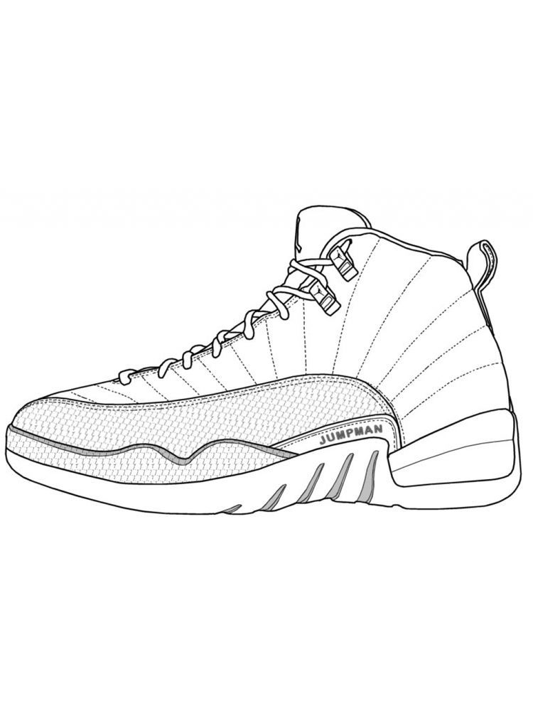Jordan 11 Coloring Page : jordan, coloring, Shoes, Coloring, Pages., Following, Collection, Page., Download, Sneakers, Drawing,, Sketch