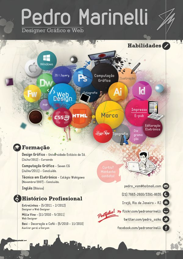 Cool Resumes Show your skills in your resume! I love the use of - amazing resumes