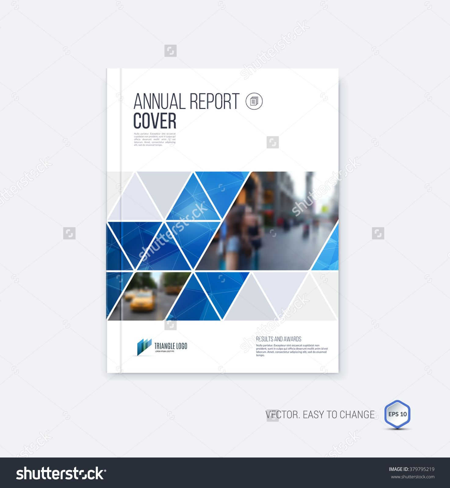 Vector Corporate Design Annual Report Or Catalog Magazine Flyer