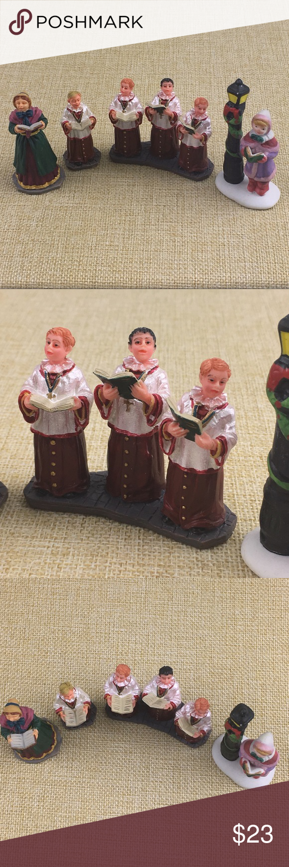 Lemax Village Accessories Christmas Songs Carolers | Christmas village accessories, Christmas ...